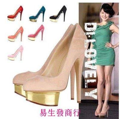 【易生發商行】升級版charlotte olympia高跟鞋小s同款尖頭高跟鞋單鞋婚鞋新娘F6159
