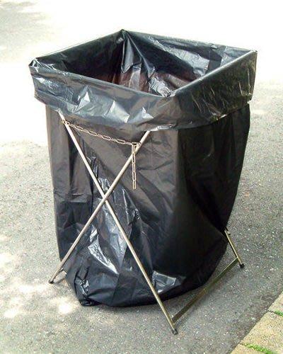☆成志金屬☆不鏽鋼垃圾袋架--特大黑色垃圾袋專用