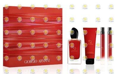 🌖柚子娘娘🌖 GiorgioArmani 亞曼尼 SI PASSIONE 女性淡香精旅行潤膚禮盒