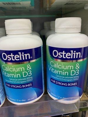澳洲代購 現貨含運 Ostelin Calcium / Vitamin D3 成人維生素D+鈣300粒。