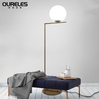 立燈北歐落地燈客廳簡約現代臥室書房床頭創意圓球落地立式燈 MC8910『惠來客』TWZY
