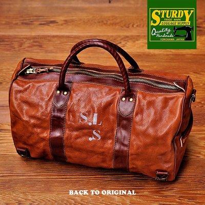 BTO 日本【Sturdy】Weekender 栃木牛皮手提波士頓包旅行袋