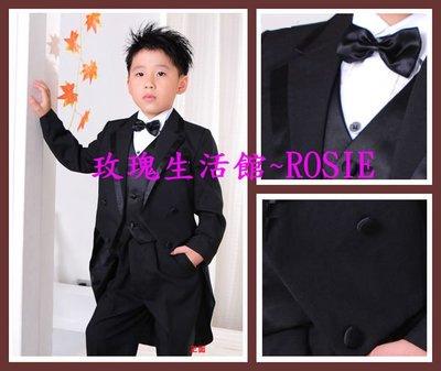 【玫瑰生活館】~兒童黑色燕尾服,黑色西裝.禮服,