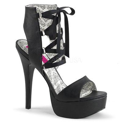 Shoes InStyle《五吋》美國品牌 PINK LABEL 原廠正品厚底高跟涼鞋 有大尺碼 11-16碼『黑色』