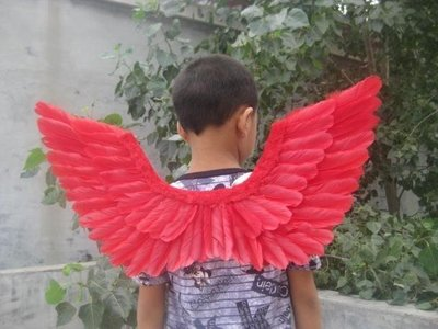 【新視界生活館】cos 天使翅膀兒童款式 生日聚會禮物 演出表演 羽毛大號道具