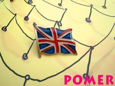 ☆POMER☆ 英國國旗 England 大不列顛及北愛爾蘭聯合王國 金屬別針胸針徽章