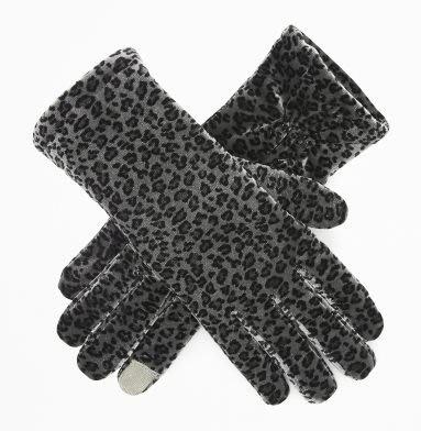 破盤出清大降價!全新 Kenneth Cole 灰色動物花紋 3M 材質可划手機之手套,情人節送禮,低價起標無底價!免運