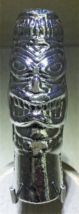 Tiki 手澆銀柱-毛利神話之人型雕像 (2 toz)