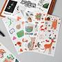 戀物星球 原創手帳和紙貼紙裝飾人物植物星球動物卡通美食手賬貼紙素材貼畫/滿200發貨