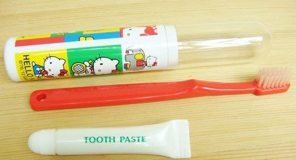 日本製 KITTY 史奴比 kitty/喬巴 外出盥用具組牙膏牙刷組 隨機出貨 奶爸商城 特價出清