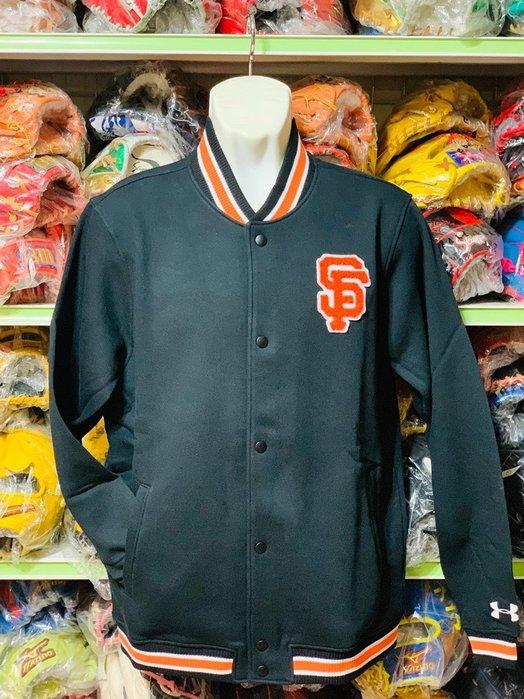 貳拾肆棒球-日本帶回美國職棒大聯盟MLB舊金山巨人校園風外套 /UA Under Armour 製作