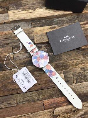 ㊣國際品牌COACH庫㊣ COACH 14503044【2件免運】新款石英女錶  時尚個性 百搭印花手錶 真皮腕錶