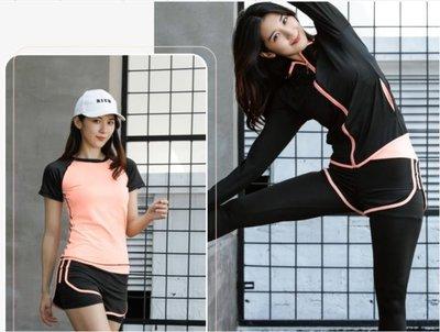 運動套裝  運動套女瑜伽服健身房跑步寬鬆速干衣專業健身服女