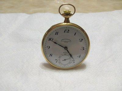 正黃金18K,瑞士天梭懷錶,非(勞力士,omega,手上鍊,機械錶,CHRONOMETRE)