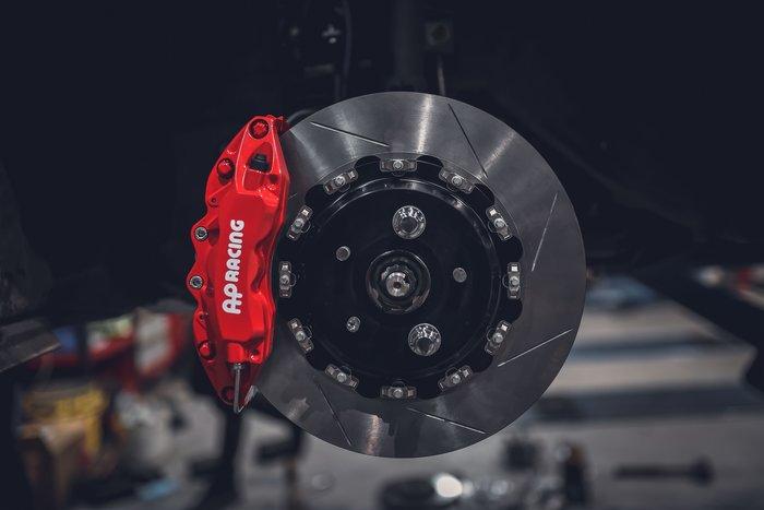 德朋國際 / AP RACING TOYOTA RAV4專用 前CP9040 六活塞卡鉗 後訂製加大碟
