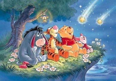 日本拼圖 迪士尼 Winnie the Pooh 小熊維尼 小豬 跳跳虎 屹耳 流星 108片絕版拼圖,108-838
