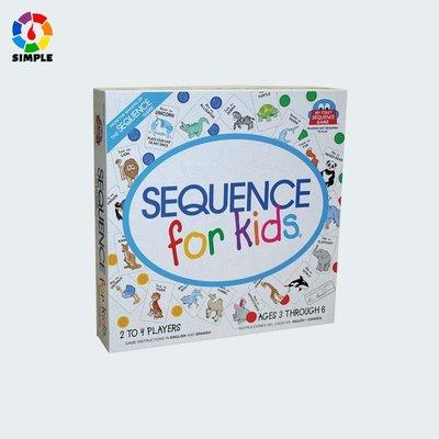 現貨~爆款~兒童益智認知學習Sequence for Kid英語動物序列遊戲卡牌~j6d22399