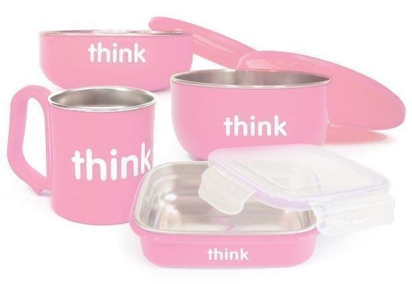 ☆促銷商品-- ThinkBaby 無毒不鏽鋼兒童餐具組 不銹鋼兒童餐碗 學習碗(五色可選)