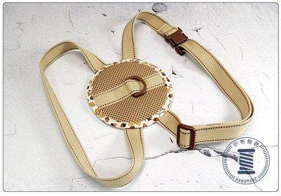✿小布物曲✿寵物胸背帶 舒適 可調整 100%純棉純手工製作  奶茶色 毛寶貝外出專用