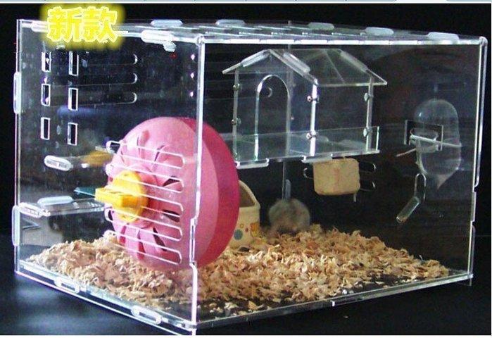 【優上精品】亞克力倉鼠籠透明籠透明別墅配房子雙層亞克力倉鼠籠新年(Z-P3089)