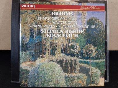 Kovacevich,Brahms-Rhapsodies,16 Waltzes,6 Piano Pieces,柯瓦謝維契鋼琴,演繹布拉姆斯:狂想曲,華爾滋,小品