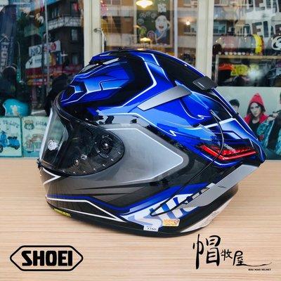 【帽牧屋】 日本 SHOEI X-Fourteen AERODYBN TC-2 全罩式安全帽 X14 公司貨 藍/銀