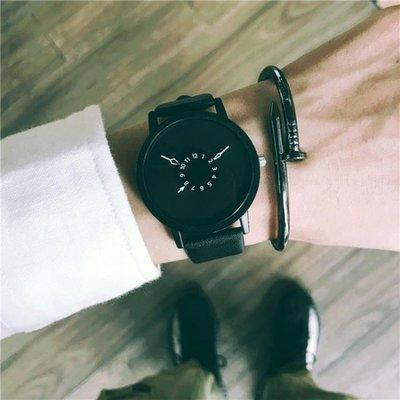 手錶韓國個性概念男中學生正韓簡約休閒復古潮流創意女錶   全館免運