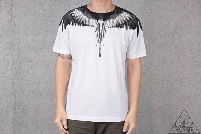 【HYDRA】Marcelo Burlon Black White Wings Tee 翅膀 羽毛 短T【MB21】