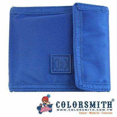 小花百貨~【COLORSMITH】三折五卡短夾 (藍) 【原價980元】收納 小物 化妝 零錢