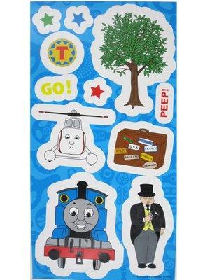 【卡漫迷】 Thomas 佈置 貼紙 ㊣版 湯瑪士 蒸氣小火車 壁貼 牆壁 裝飾 防水 可重複貼 玻璃貼 兒童房 佈置