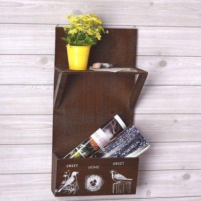 掛架 牆面木架 收納櫃 置物架 2層 壁掛 展示架 木架 收納箱  收納 木櫃 【ZC 126】