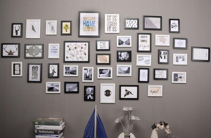 40框 簡約 超大客廳照片牆相片牆相框牆創意相框掛牆組合歐式