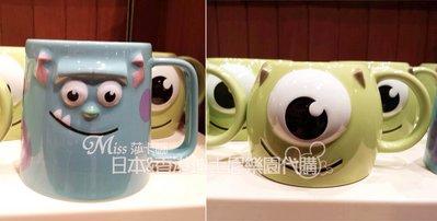 【香港迪士尼代購】怪獸電力公司 怪獸大學 毛怪 大眼仔 造型陶瓷馬克杯  (預購)