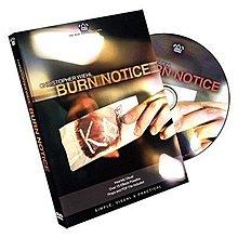 【意凡魔術小舖】美國原廠 ~ Burn Notice by Chris Wiehl ~ 黑名單 ~ (DVD+道具)