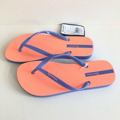 《現貨》Ipanema 女生 拖鞋巴西尺寸33/34,35,36(極簡撞色時尚人字夾腳拖鞋-粉橘)