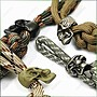 【ARMYGO】軍事風傘繩手工編織鑰匙圈
