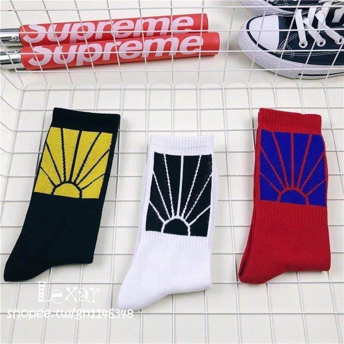原宿潮牌太陽男女長筒襪子插件原宿潮牌嘻哈網紅男女情侶襪滑板襪