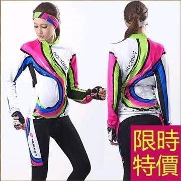 女腳踏車衣車褲長袖套裝-百搭時尚質感新品女自行車服55u9[獨家進口][米蘭精品]