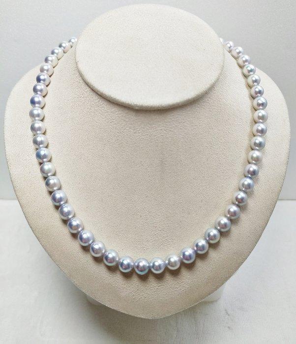 7.5-8mm 南洋銀色珍珠項鍊(銀輝)(已售出、有現貨)【元圓珠寶】