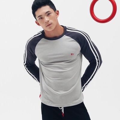 【OTOKO Men's Boutique】固制:王牌復古插肩長袖/灰+深灰(台灣獨家代理) 原廠正品