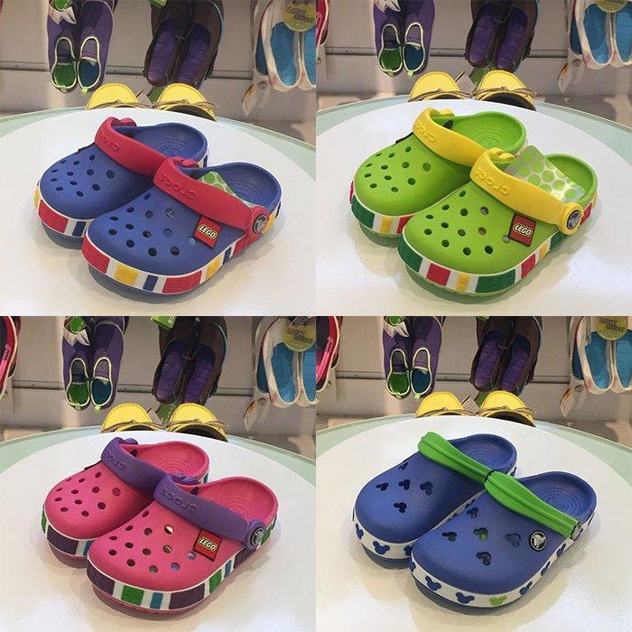 [鴻運]Crocs洞洞鞋卡駱馳樂高米奇男女兒童鞋沙灘涼拖鞋防滑透氣寶寶鞋