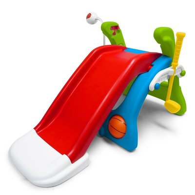 【玩具出租】美國Grow'n up 多功能運動遊戲組 溜滑梯