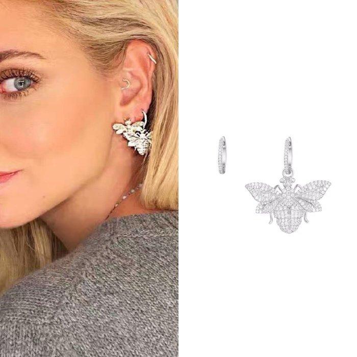💎1612、森林翩蜂系列 純淨迷人銀鑲大黃蜂輕奢耳環💎 名牌精品 耳環 925純銀耳針 空運來台 輕奢珠寶 正韓飾品