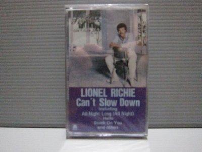 LIONEL RICHIE萊諾·李奇Can't Slow Down 全新未拆封 有歌詞 有現貨 無黴 原殼錄音帶 卡帶