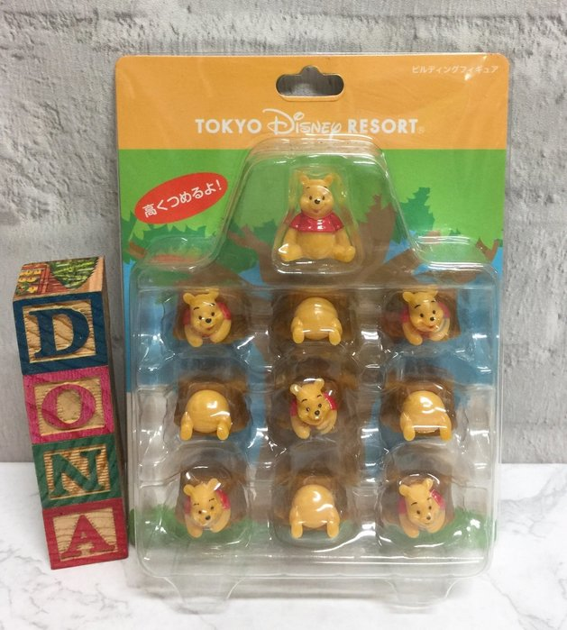 【Dona日貨】日本迪士尼樂園限定 小熊維尼Pooh卡樹洞 平衡木/疊疊樂 B33