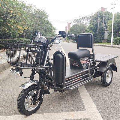 三輪車載重王三輪電瓶車快遞送餐電動平板車拉貨農用72V載貨車成人家用