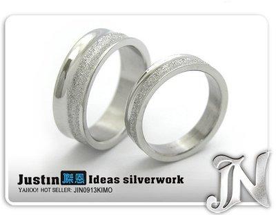.傑恩JN飾品.【0407】『純愛』西德鋼情人對戒指.僅美圍4號.5號.6號.7號.8號.9號.促銷單件價