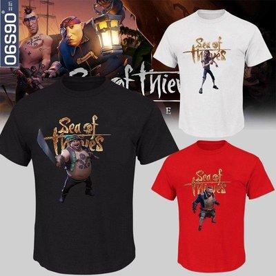 【優材質】電玩游戲Sea of Thieves周邊短袖寬松 盜賊之海T恤男學生潮