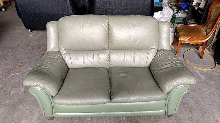 二手家具全省估價(大台北冠均 五股店)二手貨中心--穩重優雅完美品味皮沙發 2人沙發 雙人沙發 SO-111908