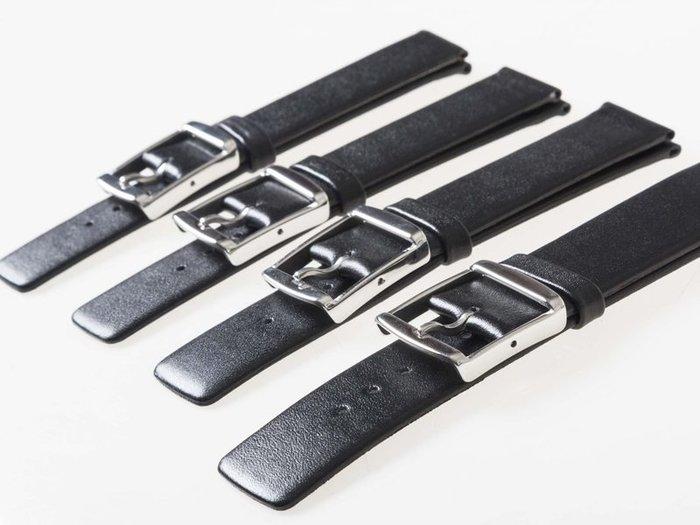 DW CK 各錶款適用 氣質款 男女超薄真皮錶帶 - 黑色 - 20mm / 22mm